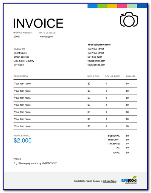 Invoice Template For Roofing Contractors