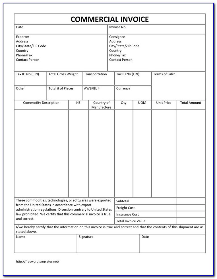 Invoice Template Pdf Download Free