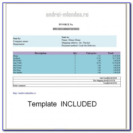 Invoice Templates Excel Download