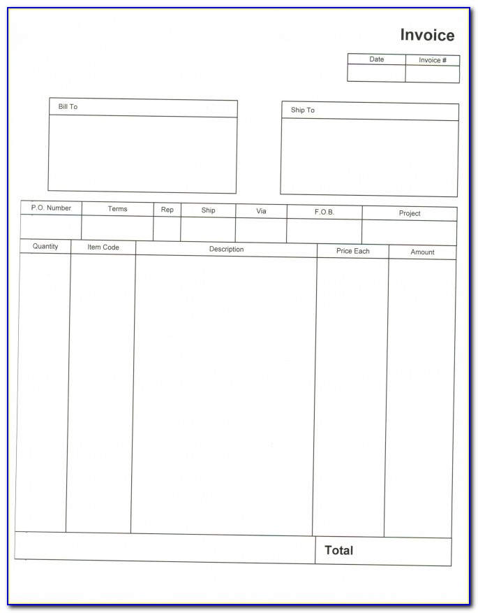Invoice Templates For Independent Contractors