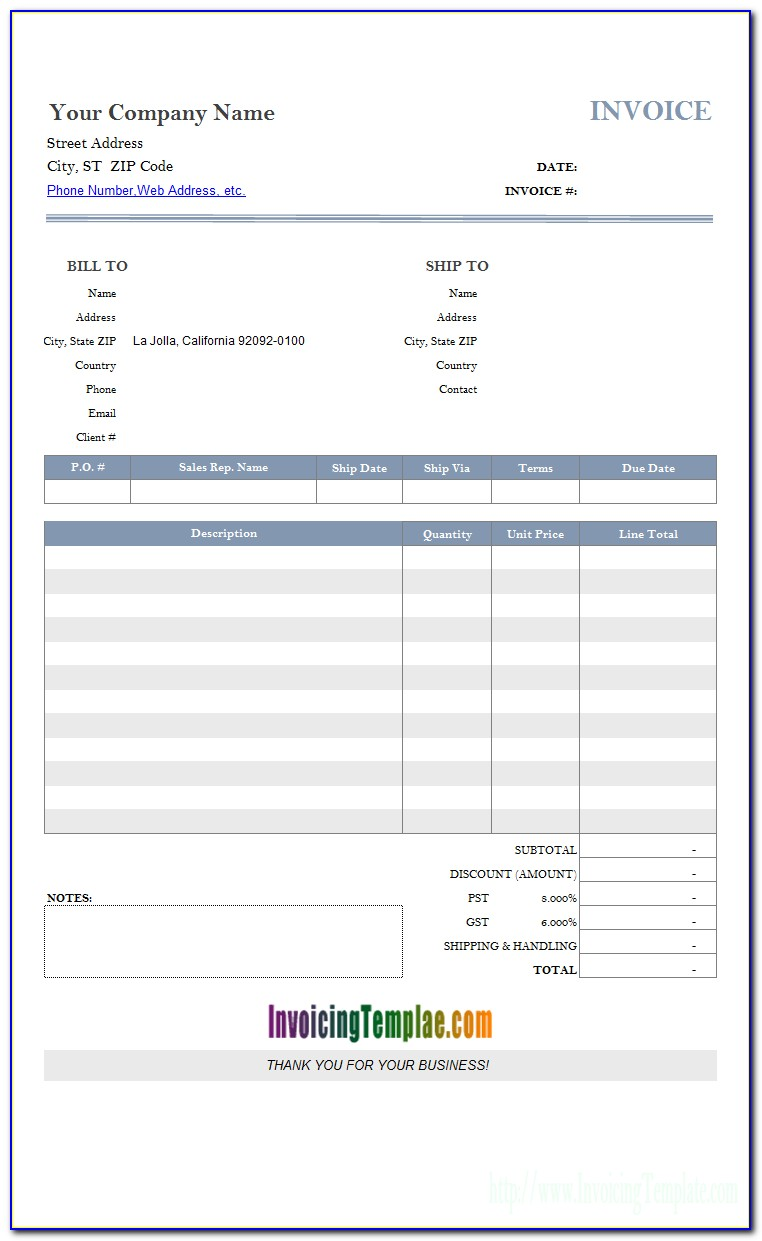 Invoicing Templates For Mac