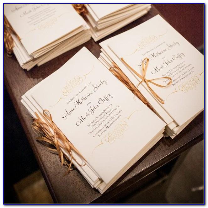 Irish Catholic Wedding Mass Booklet Template