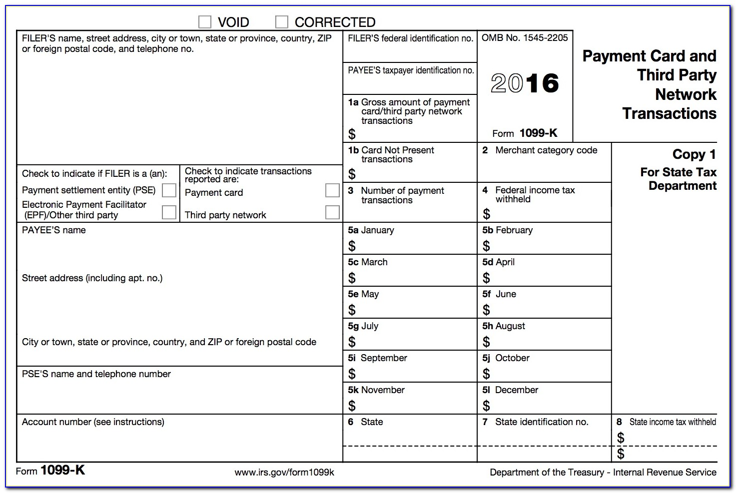 Irs 1099 Form Template