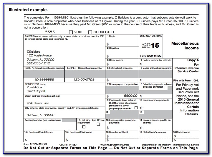 Irs Form 1099 Misc 2013 Template