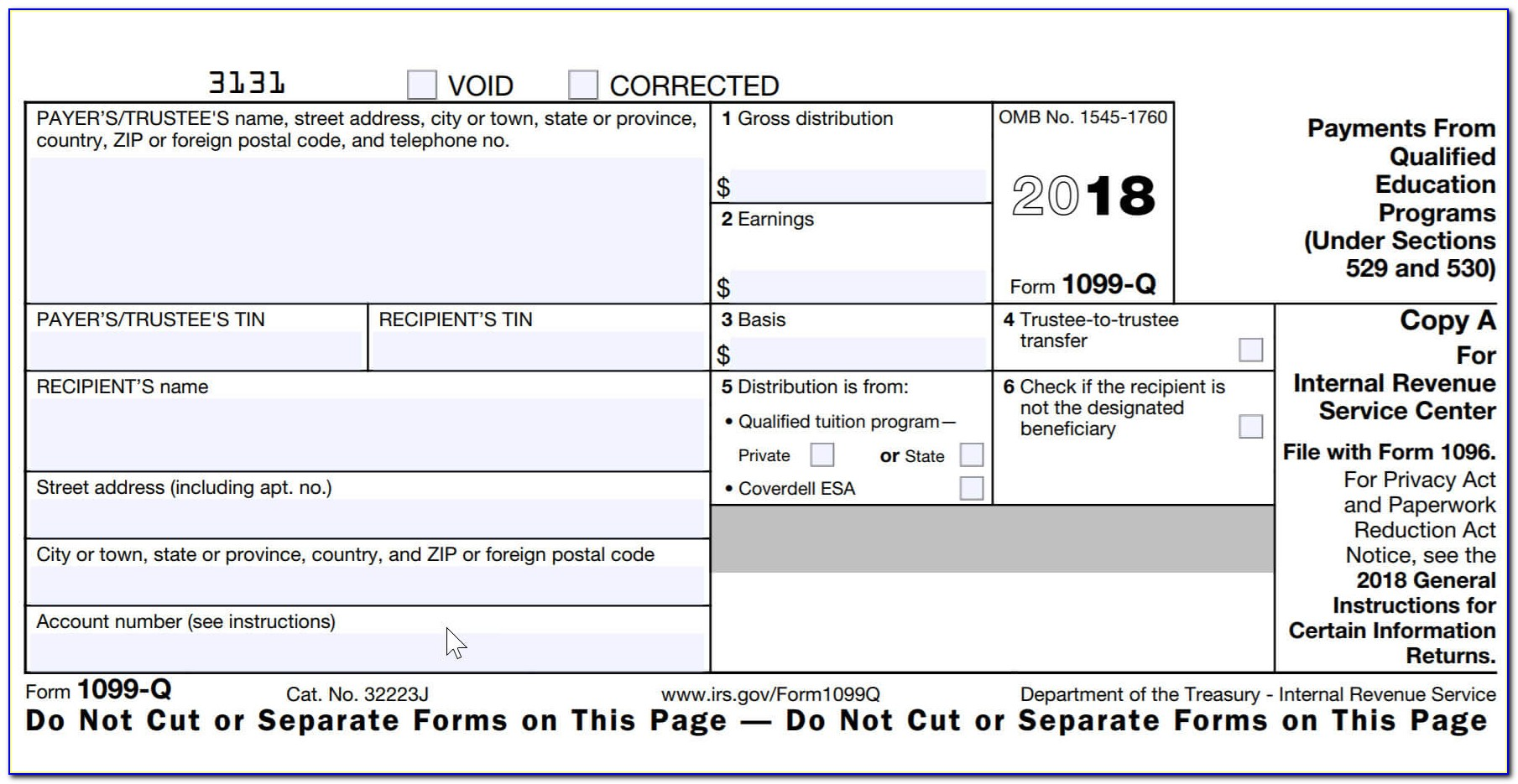 Irs Form 1099 Template