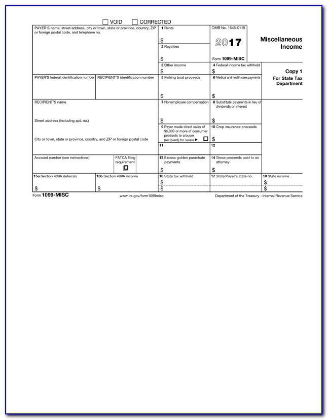 Irs Form 1099 Word Template