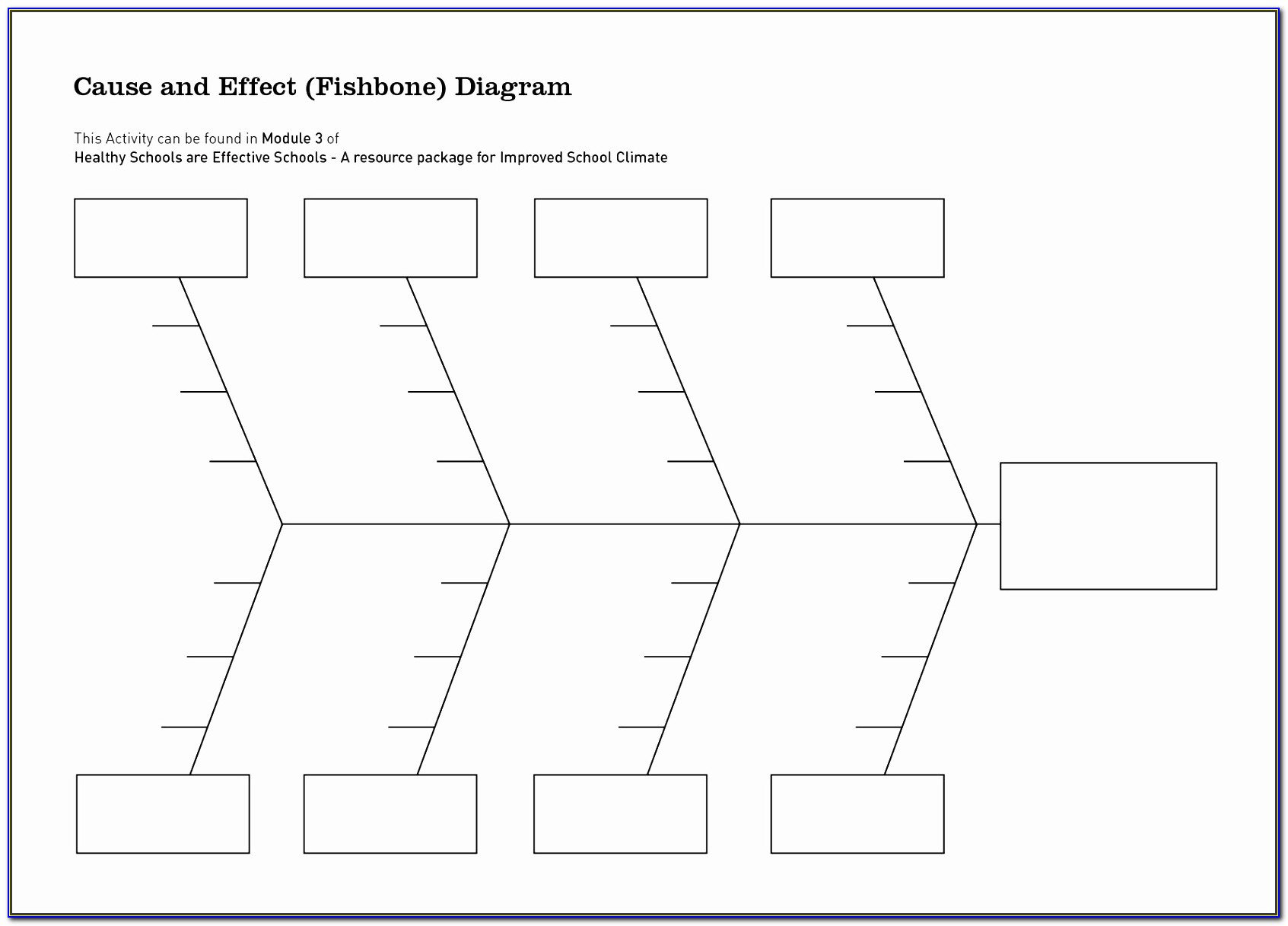 Ishikawa Diagram Template Download Free