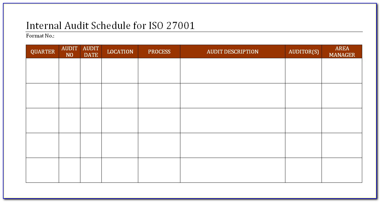 Iso 14001 Audit Plan Example