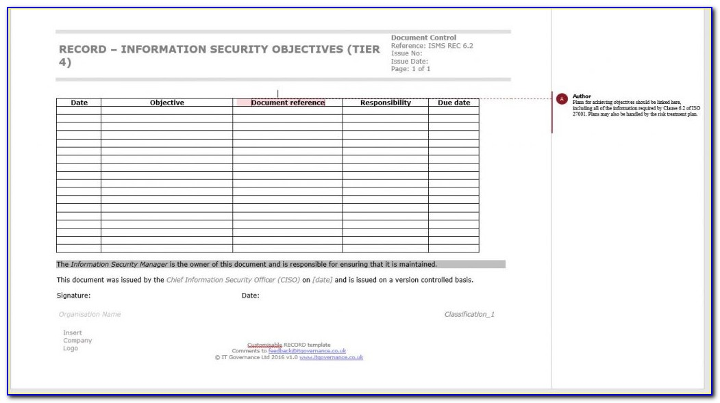 Iso 27001 Compliance Policy Templates