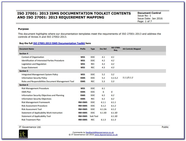Iso 27001 Risk Assessment Procedure Template