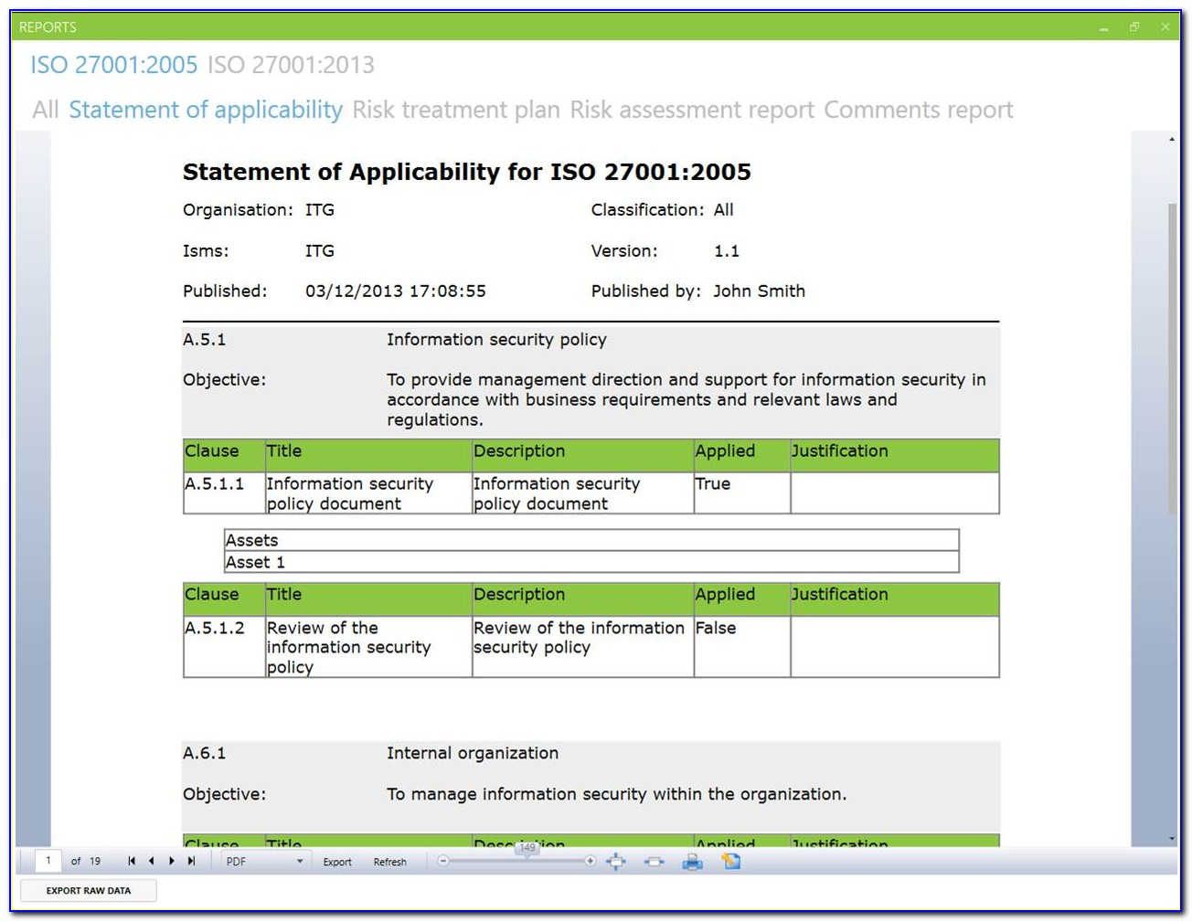 Iso 27001 Risk Assessment Report Template