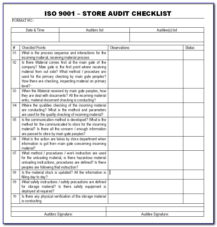 Iso 9001 Template Pdf