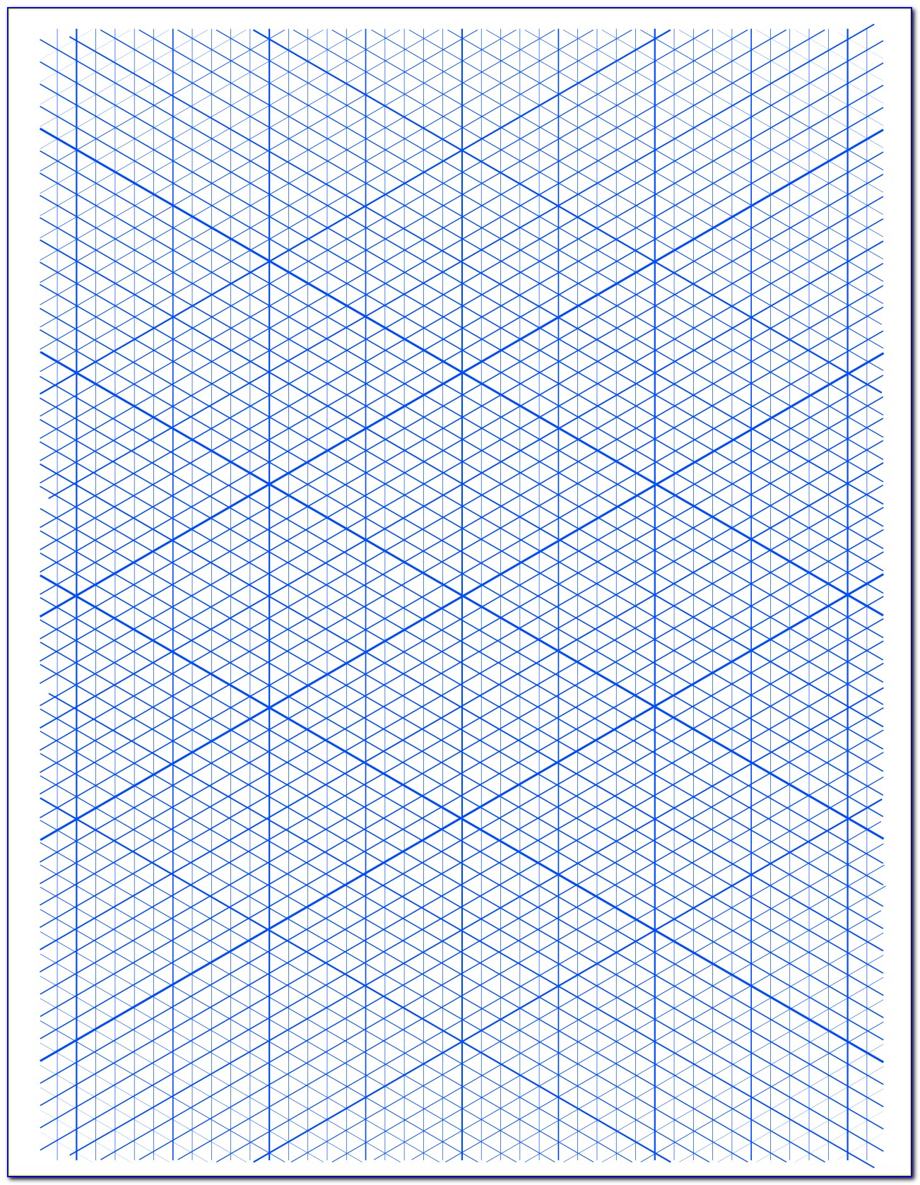 Isometric Dot Grid Paper Printable