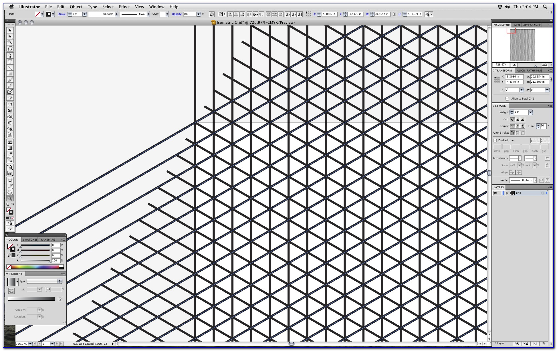 Isometric Grid Template Photoshop