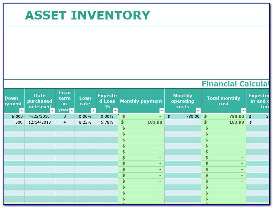 It Asset Inventory Format In Excel
