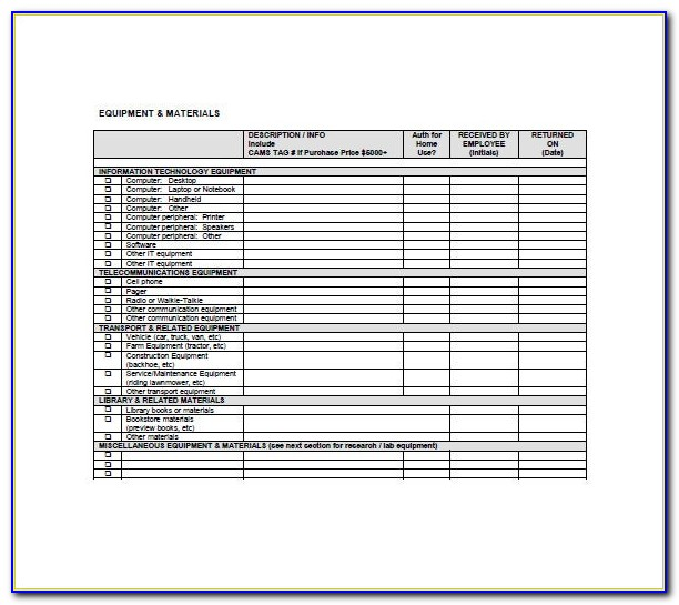 It Asset Inventory Template Excel