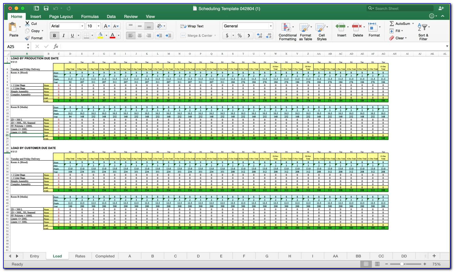 It Capacity Planning Template Excel