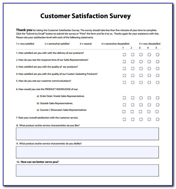 It Customer Satisfaction Survey Template Free