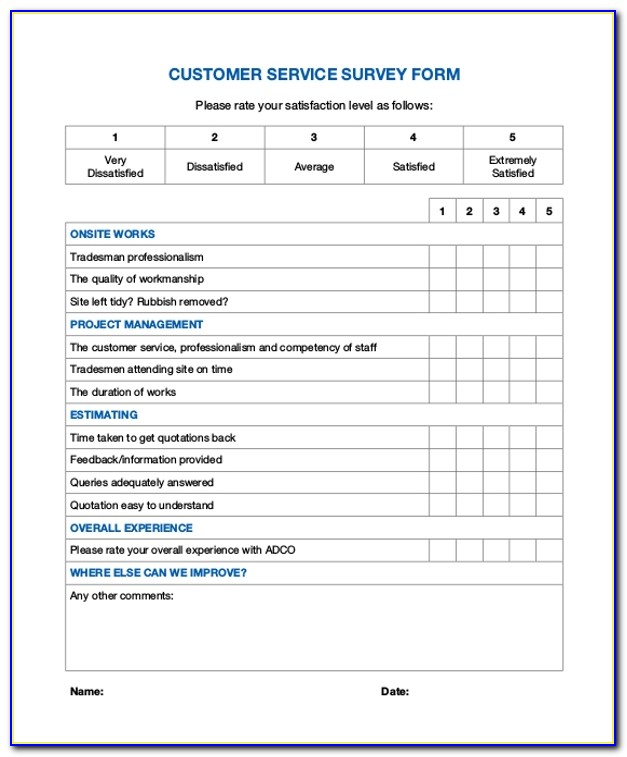 It Customer Service Survey Template
