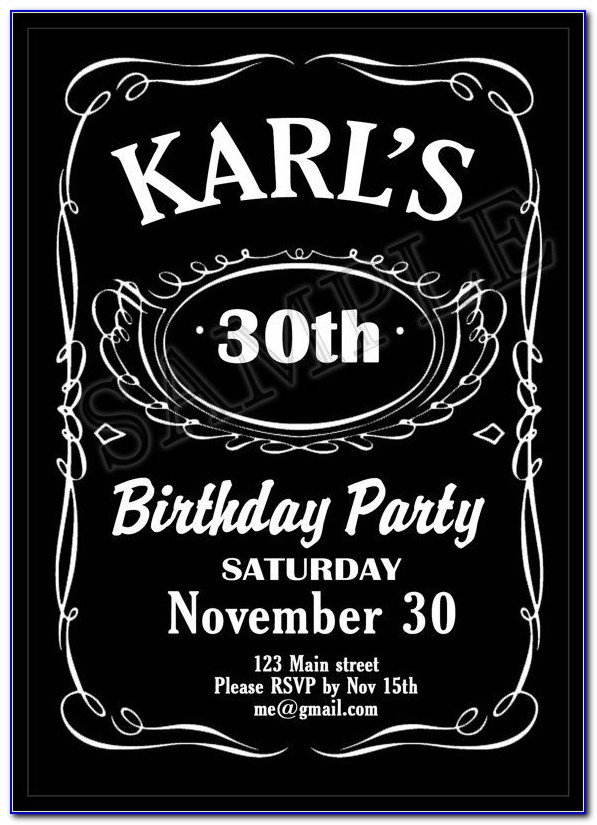 Jack Daniels 40 Th Birthday Invitation Template