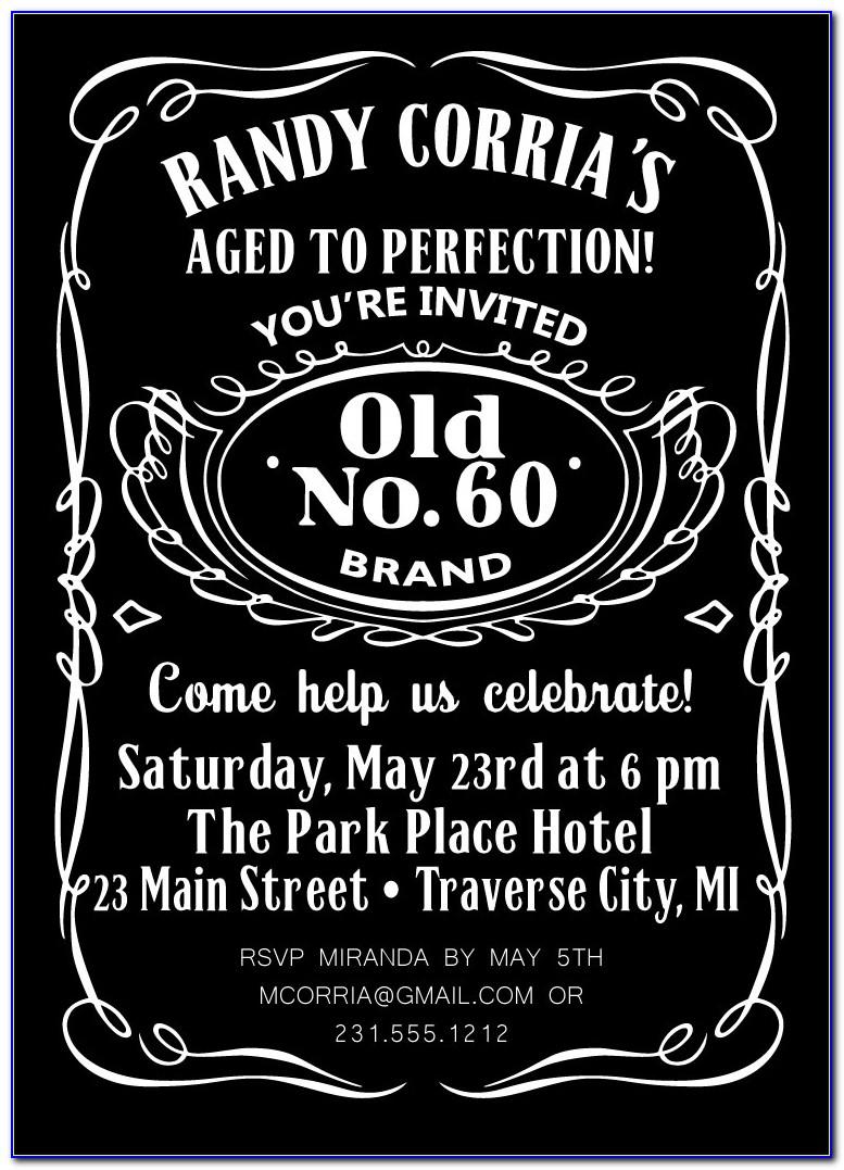 Jack Daniels Blank Invitation Template Free