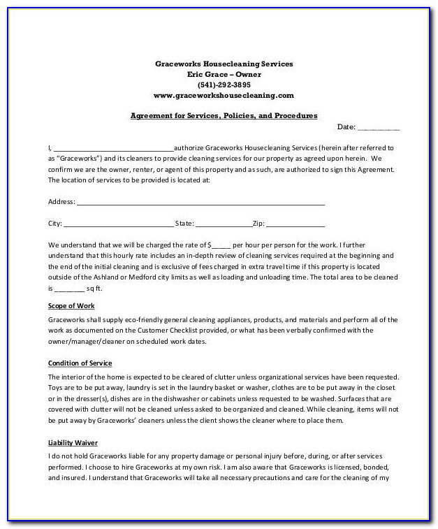 Janitorial Service Agreement Template