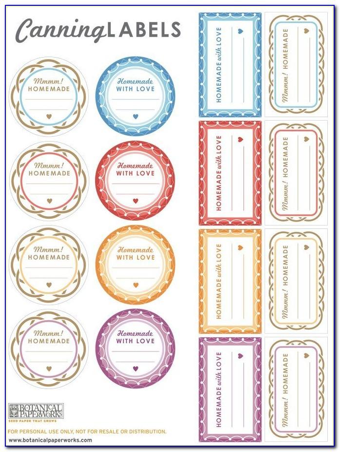 Jar Label Template Ai