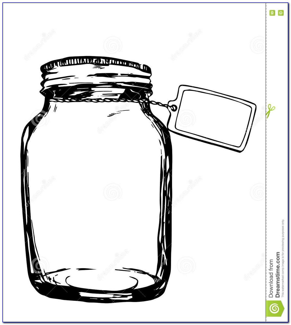Jar Label Template Vector