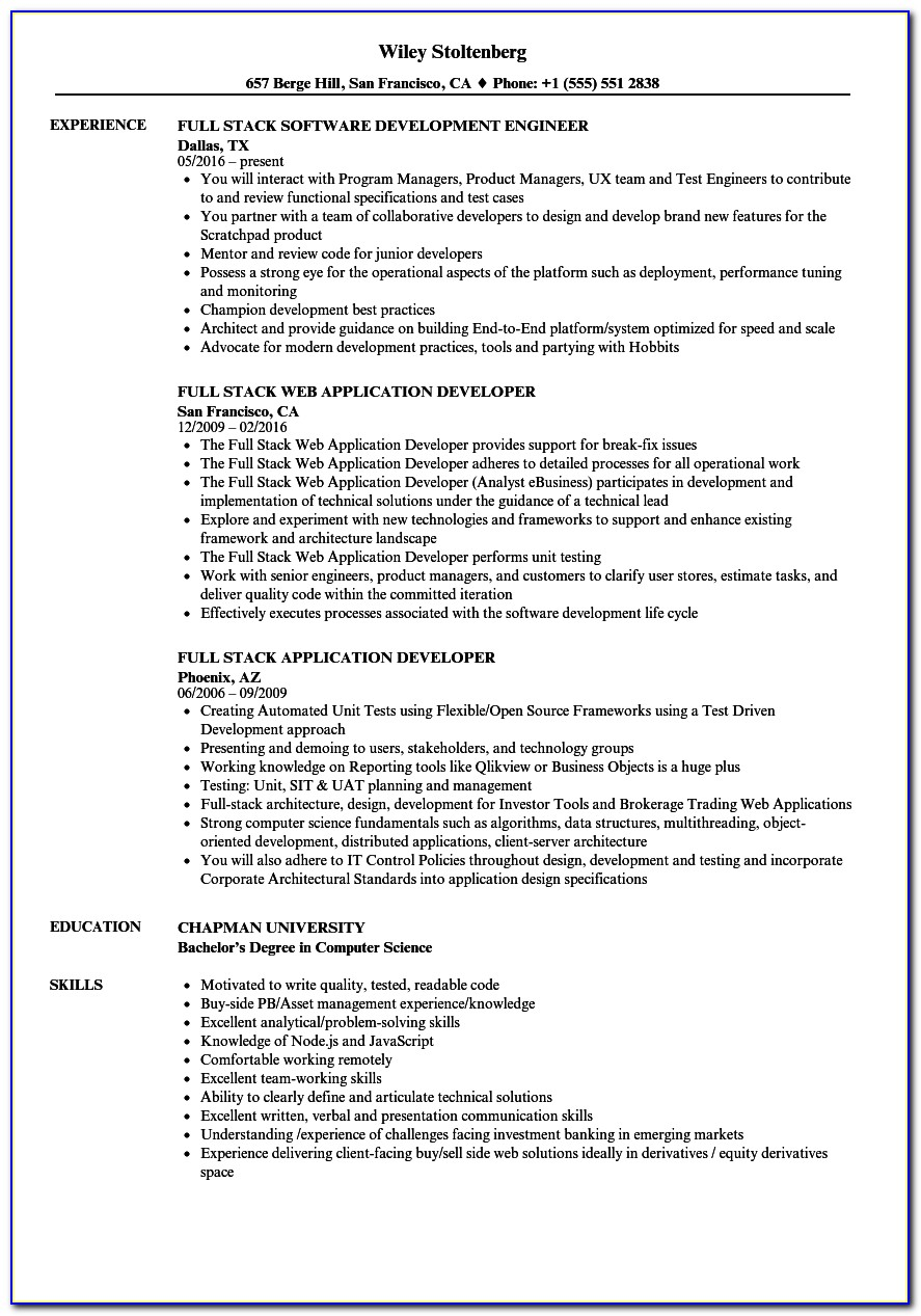 Java Developer Resume Sample Australia