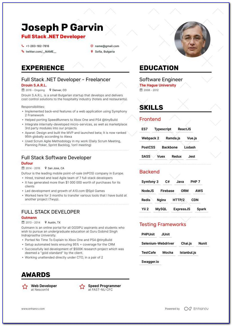 Java Developer Resume Sample Download