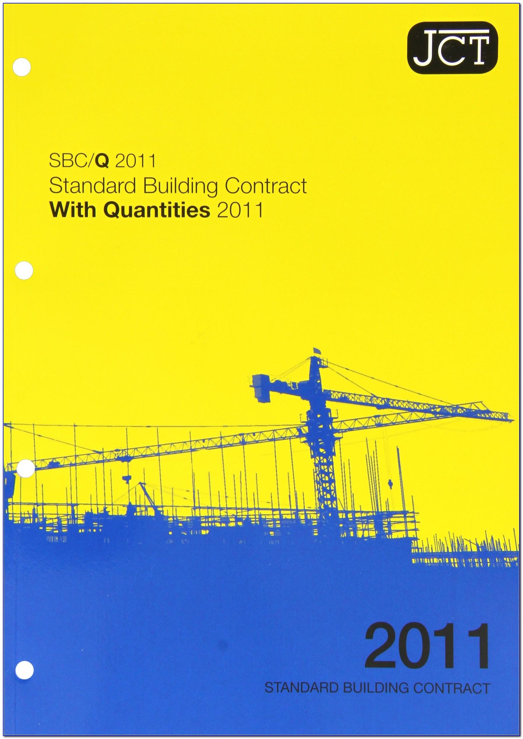 Jct Standard Building Contract Pdf