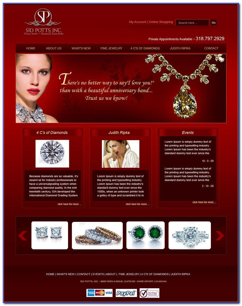 Jewelry Line Sheet Example