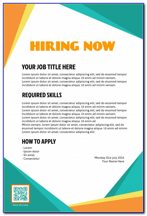 Job Advertisement Template Online