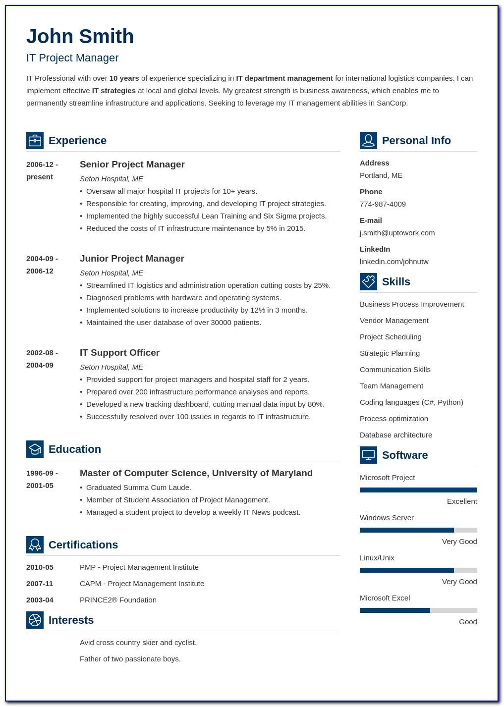 Job Application Resume Format Pdf Download