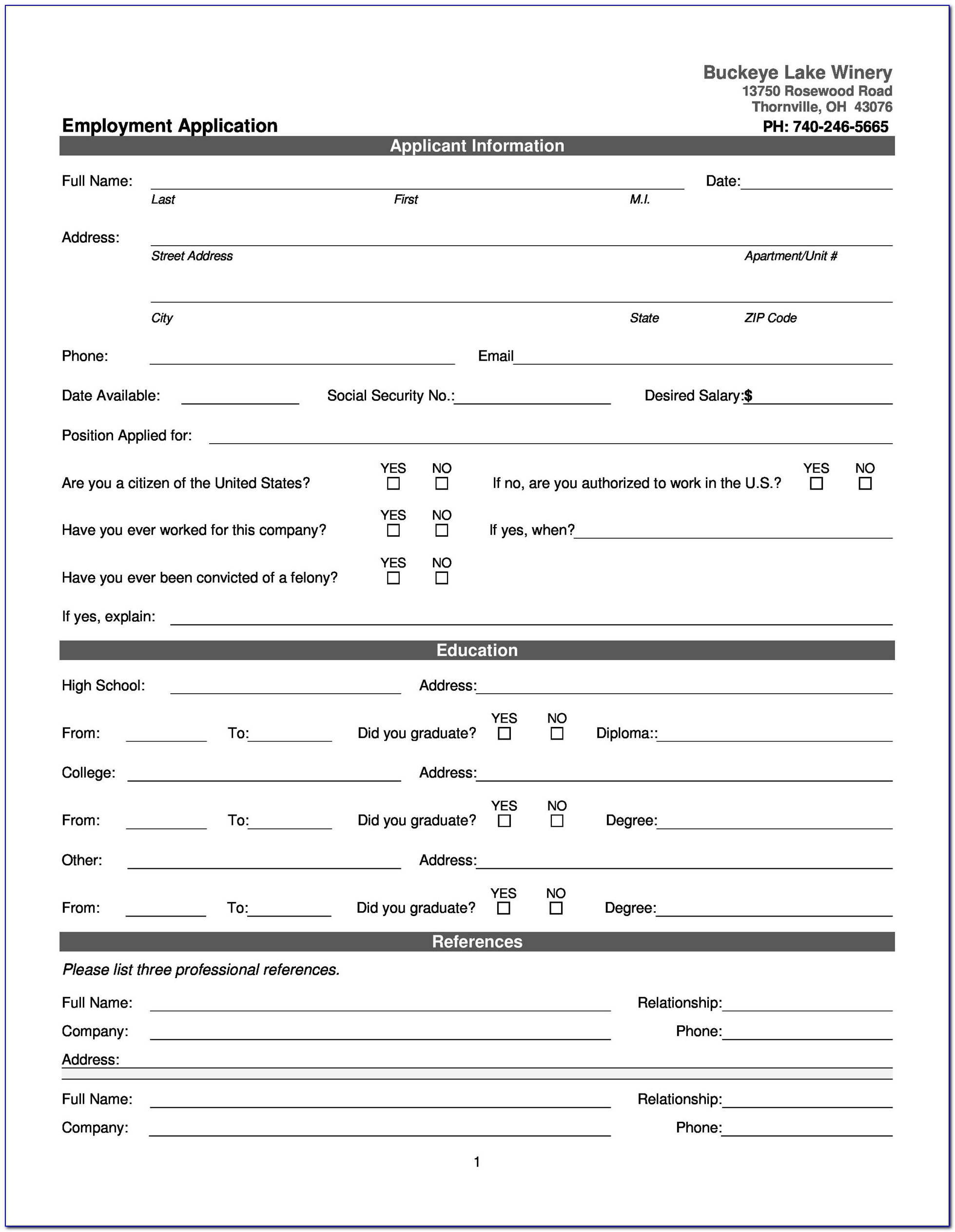Job Description Form Template Microsoft Word