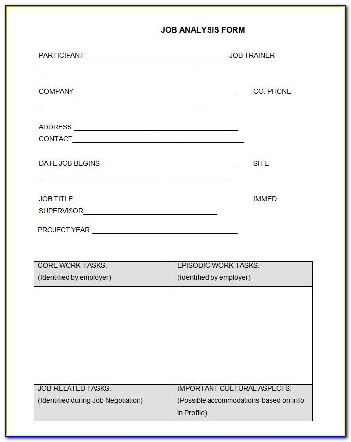 Job Hazard Analysis Template Doc