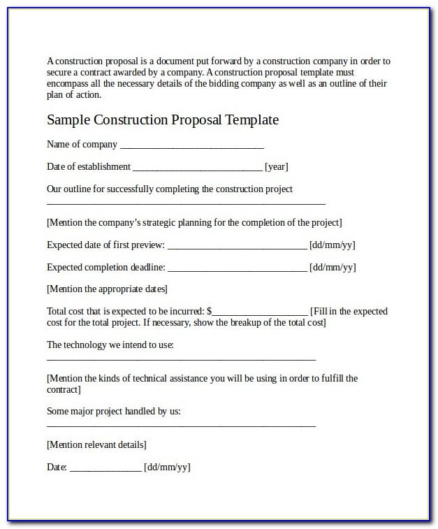 Job Position Proposal Template Word