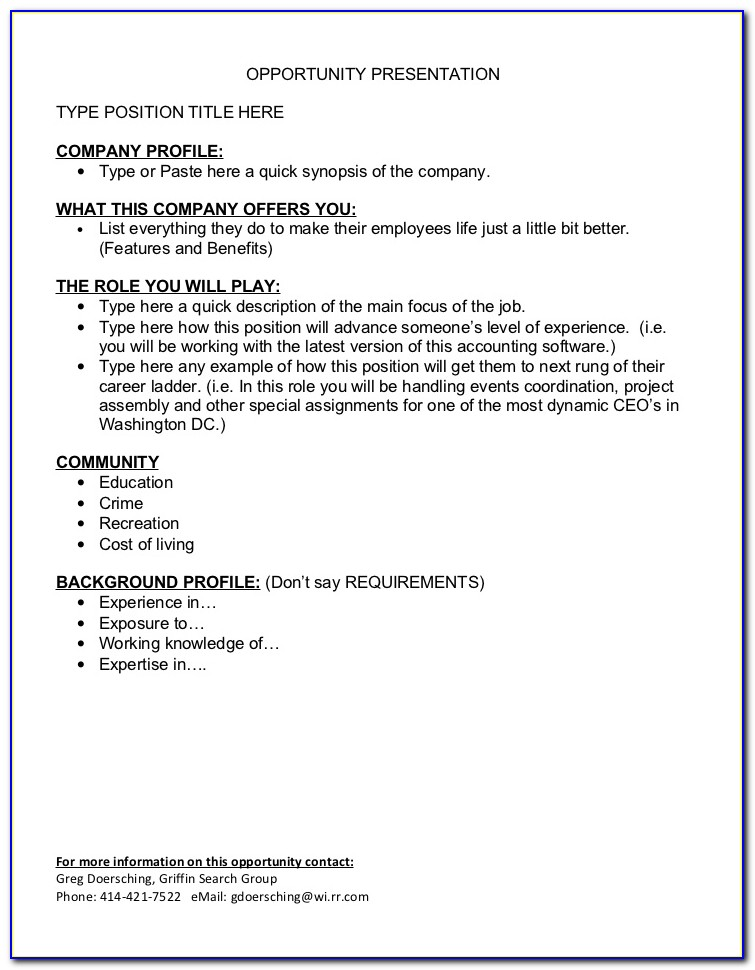 Job Posting Template Shrm