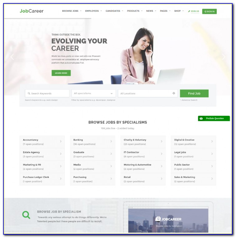 Job Posting Website Template Free