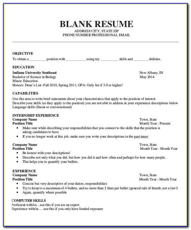 Job Resume Sample For High School Students