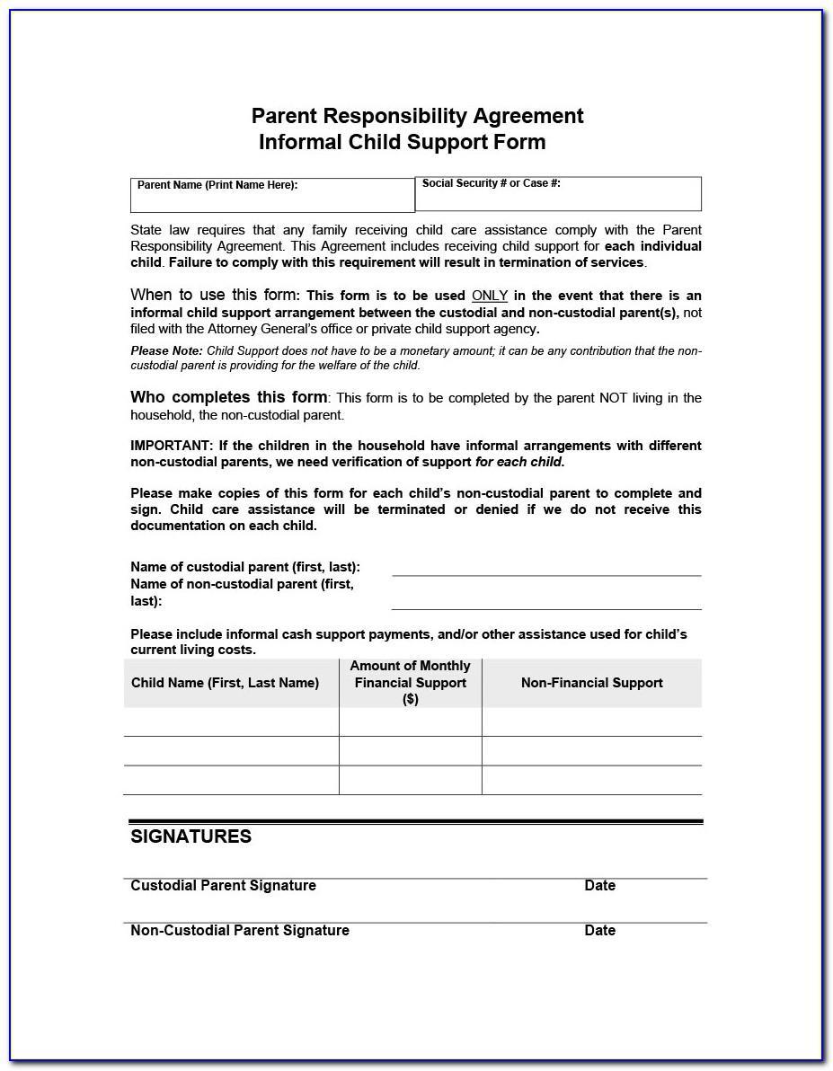 Joint Custody Agreement Example
