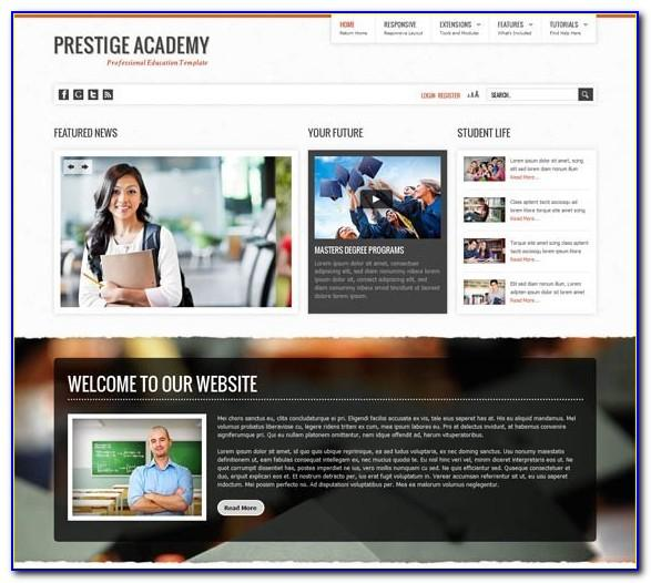 Joomla 25 Education Templates Free