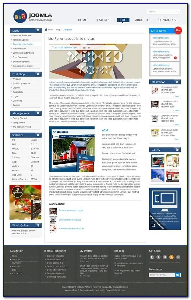 Joomla 3.x Template Free Download