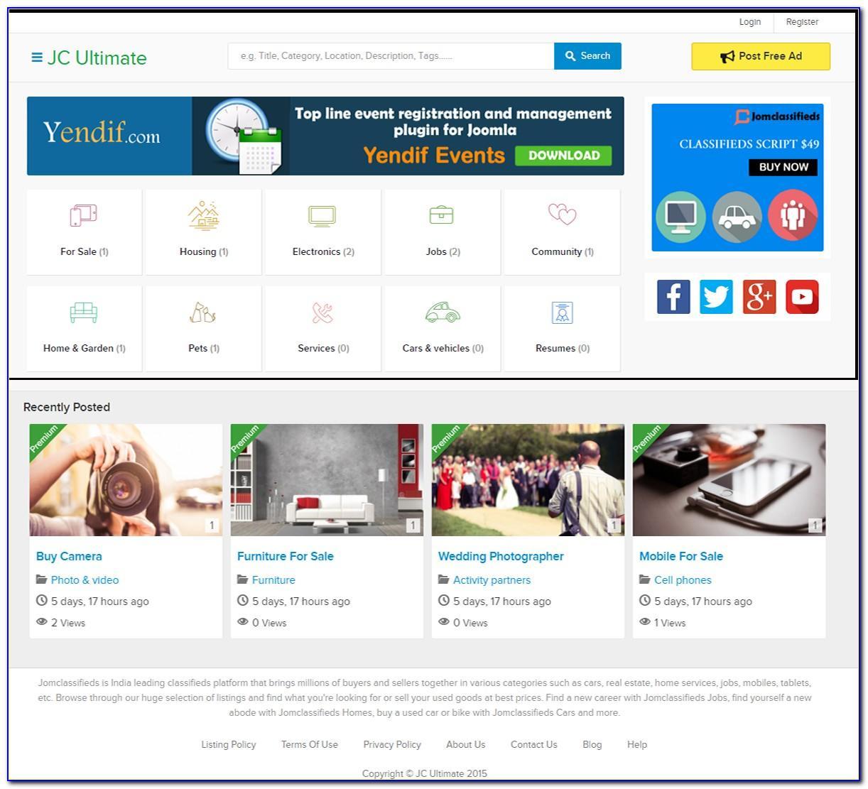 Joomla Classifieds Template Free Download