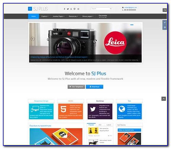 Joomla Template Free Download 3.8
