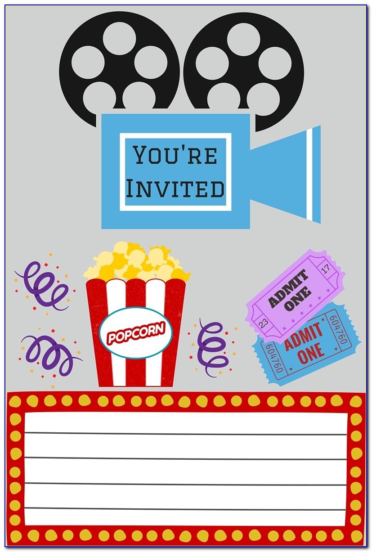 Movie Themed Invitation Template