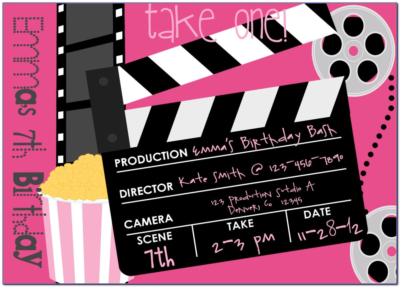 Movie Themed Party Invitation Templates Free