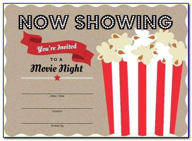 Movie Themed Wedding Invitation Templates