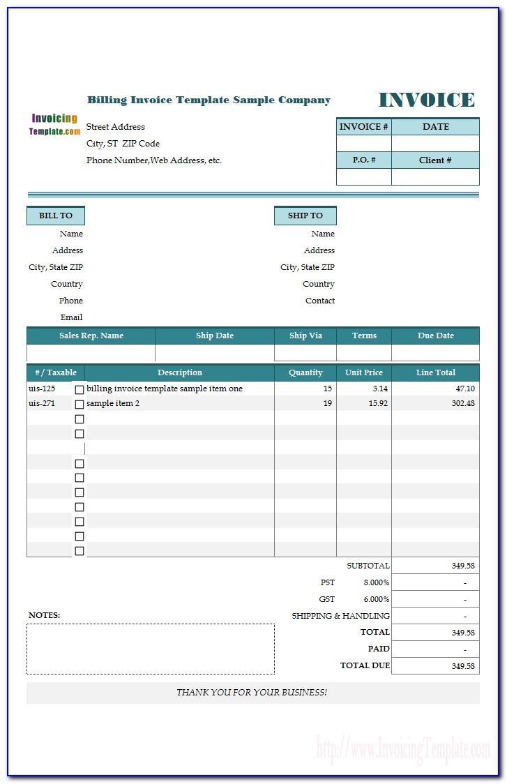 Multiple Invoice Templates Quickbooks Online