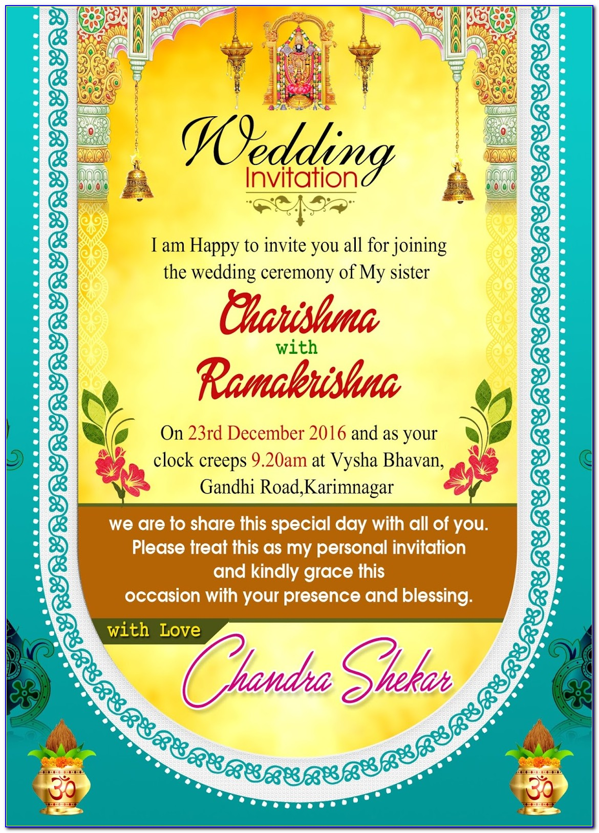 Photoshop Hindu Wedding Invitation Templates Psd Free Download